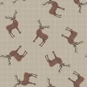 Lewis & Irene - Celtic Coorie - 6782 - Stags on Beige - A417.1 - Cotton Fabric